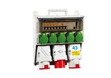 Breaker panel, 400V, 20 kW, 32 amp, CEE